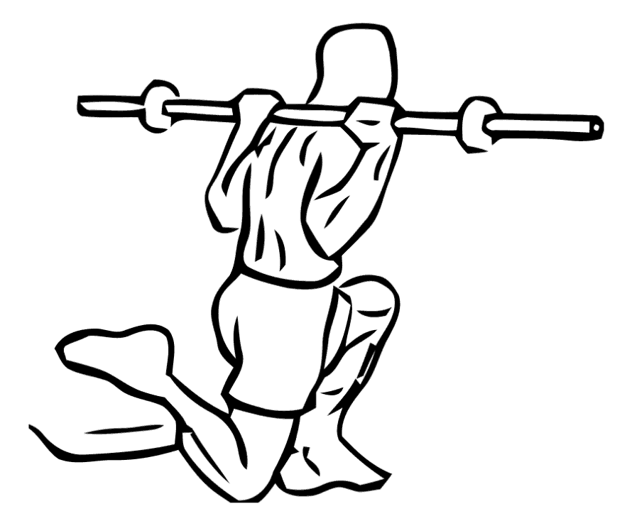 Overhead Squat Drawing Bulgarian Split Squats with