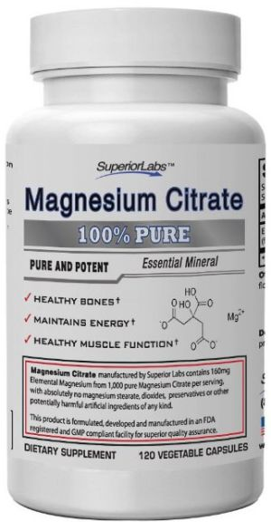 #1 Magnesium Citrate - No Magnesium Stearate