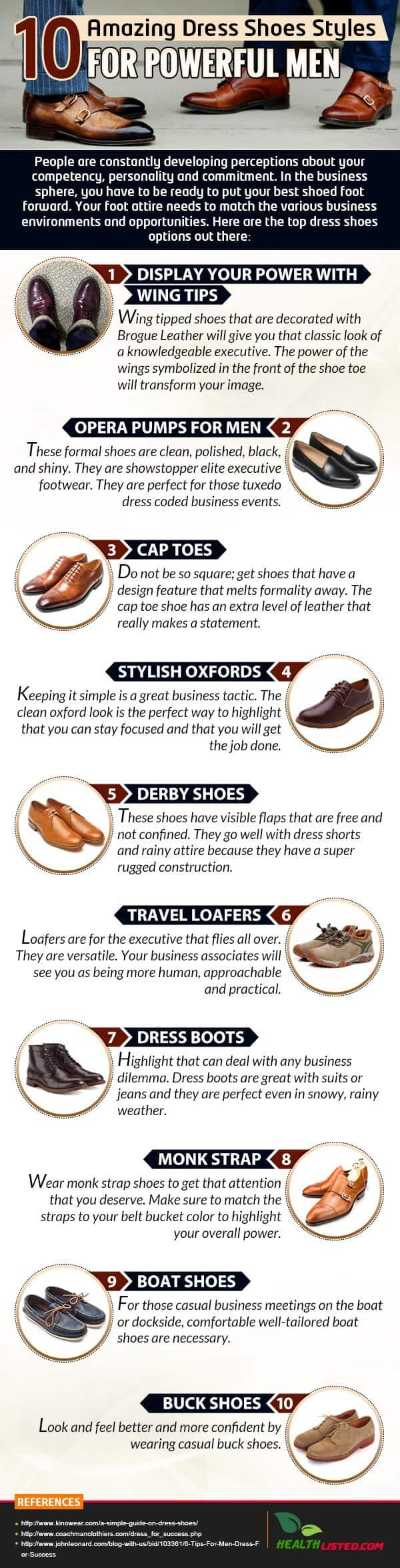 10 Amazing Dress Shoes Styles for Powerful Men