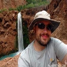 Adam Hiking the Trail