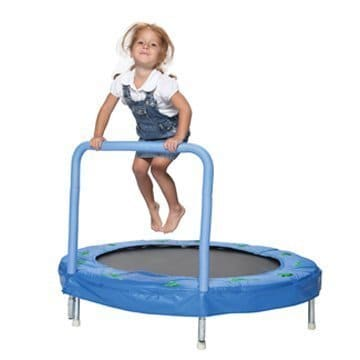 Bazoongi Trampoline with Handle Bar
