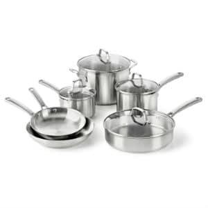 Calphalon Classic Stainless Steel Cookware Set 10-Piece