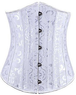Camellias 24pc Steel Boned Satin Underbust Waist Training Corset Shaper Bustier
