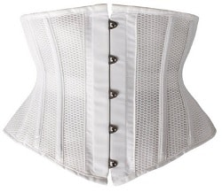 Camellias Short Torso Breathable Mesh Steel Boned Waist Training Cincher Waspie
