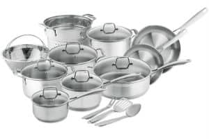Chefs Star Professional Grade Stainless Steel 17 Piece Pot Pan Set