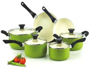 Cook N Home NC-00358 Nonstick Ceramic Coating 10-Piece Cookware Set