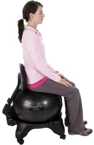 Isokinetics Inc Brand Adjustable Back Exercise Ball Chair