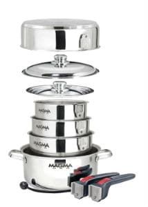 Magma Products A10-360L-IND 10 Piece Gourmet Nesting Stainless Steel Cookware Set