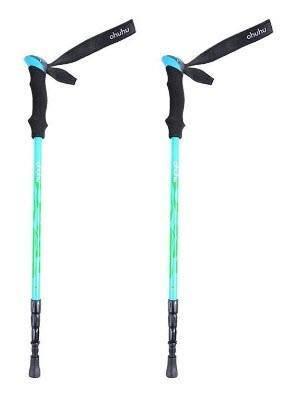 Ohuhu [2-Pack] Anti Shock Retractable Trekking Hiking Poles