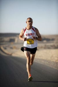 usmc runner on desert road