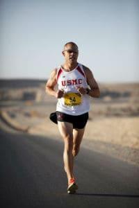 usmc runner on desert road