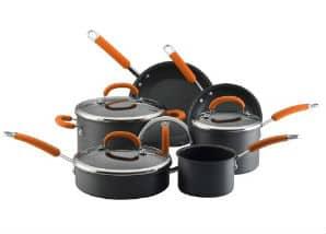 Rachel Ray Hard Anodized Nonstick 10 Piece Cookware Set