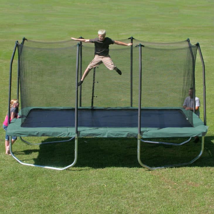 Summit 14 Rectangle Trampoline with Safety Enclosure
