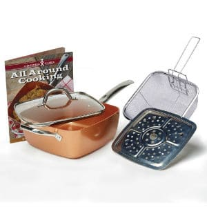Tristar Products 4 Piece Chef Pan with Glass Lid