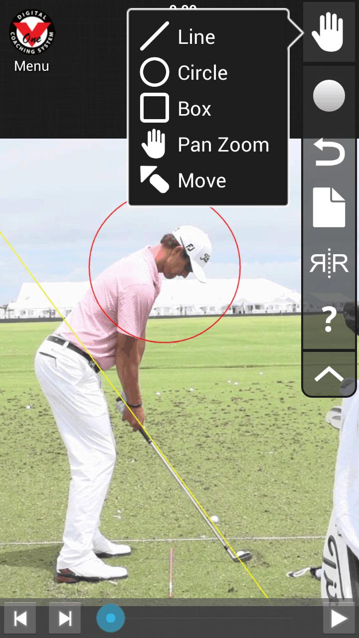 V1 Golf App in Action