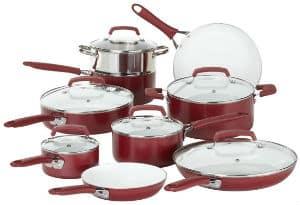 WearEver C943SF Pure Living Nonstick Ceramic Coating PTFE PFOA Free Dishwasher Safe Cookware set