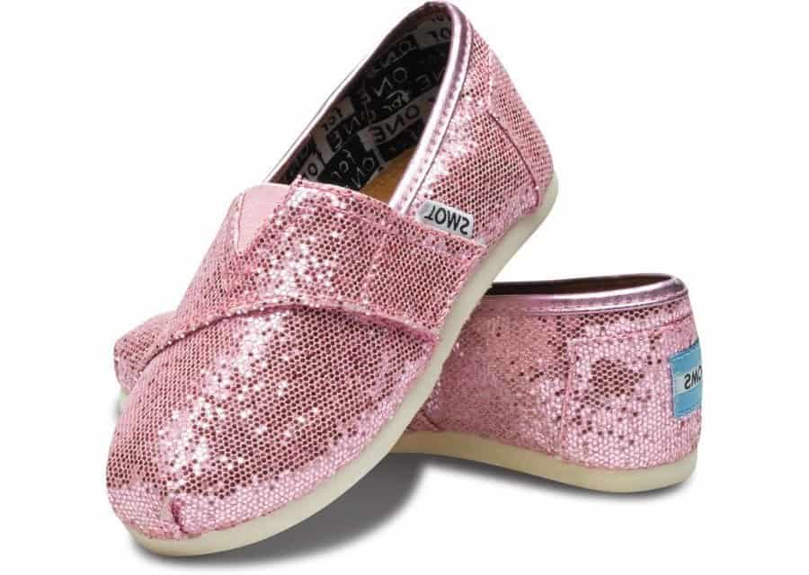 Toms Tiny Classic Glitter Shoes Pink 007013D11-PINK