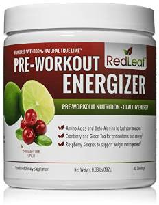 image of red leaf pre workout for women