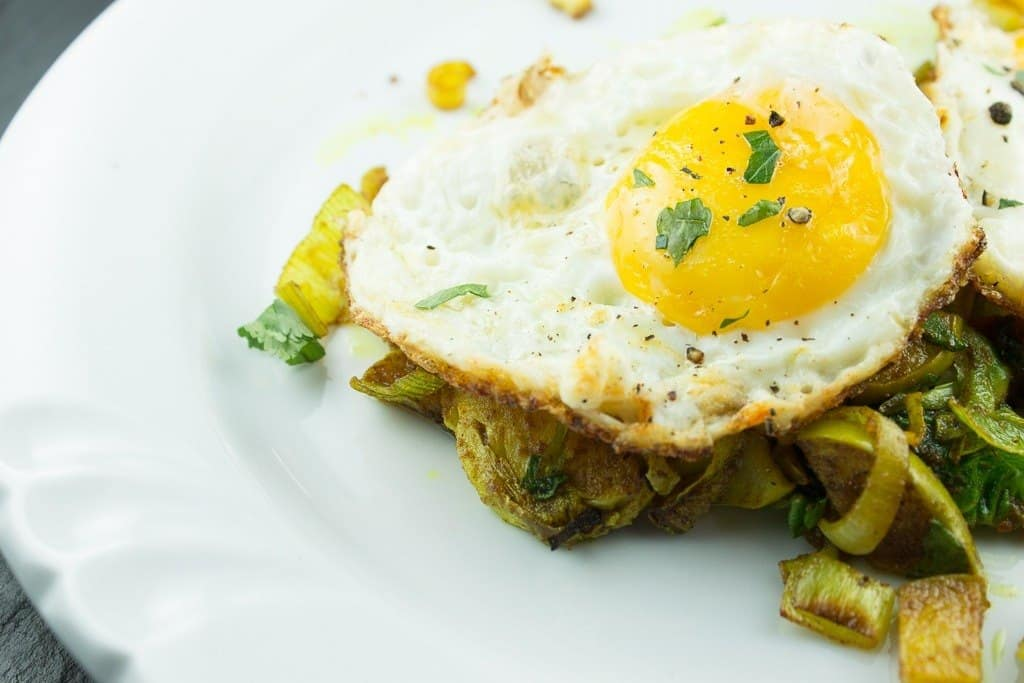 Paleo Curried Vegetable Skillet With Fried Eggs