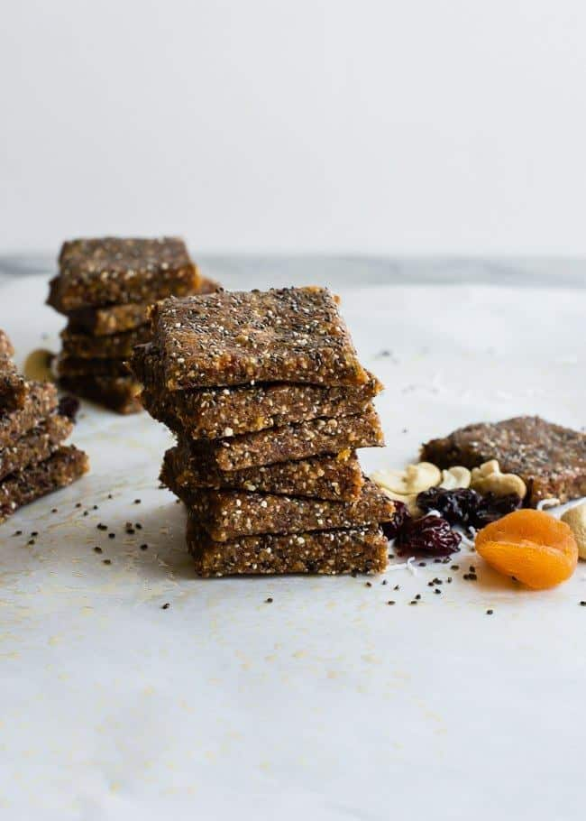 Vegan Apricot Cherry Energy Bars