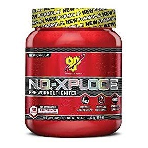 BSN N.O.-XPLODE Pre-Workout Supplement with Creatine, Beta-Alanine, and Energy