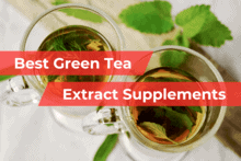 top shot of 2 clear cups of green tea as featured image