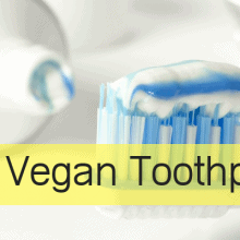 image of vegan toothpaste tube and toothbrush