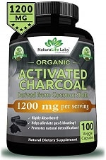 NaturaLife Labs Organic Activated Charcoal Capsules
