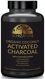 Schizandu Organic Coconut Activated Charcoal Capsules
