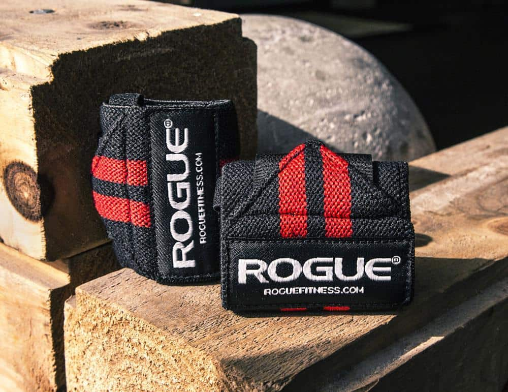 Rogue wrist wraps in red & black colors