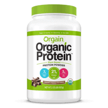orgain organic protein powder product - creamy chocolate fudge flavor