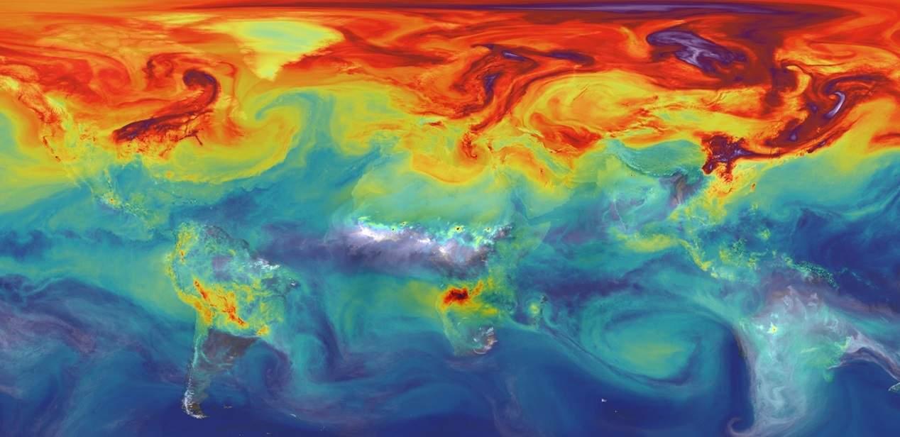 heat map showing global warming