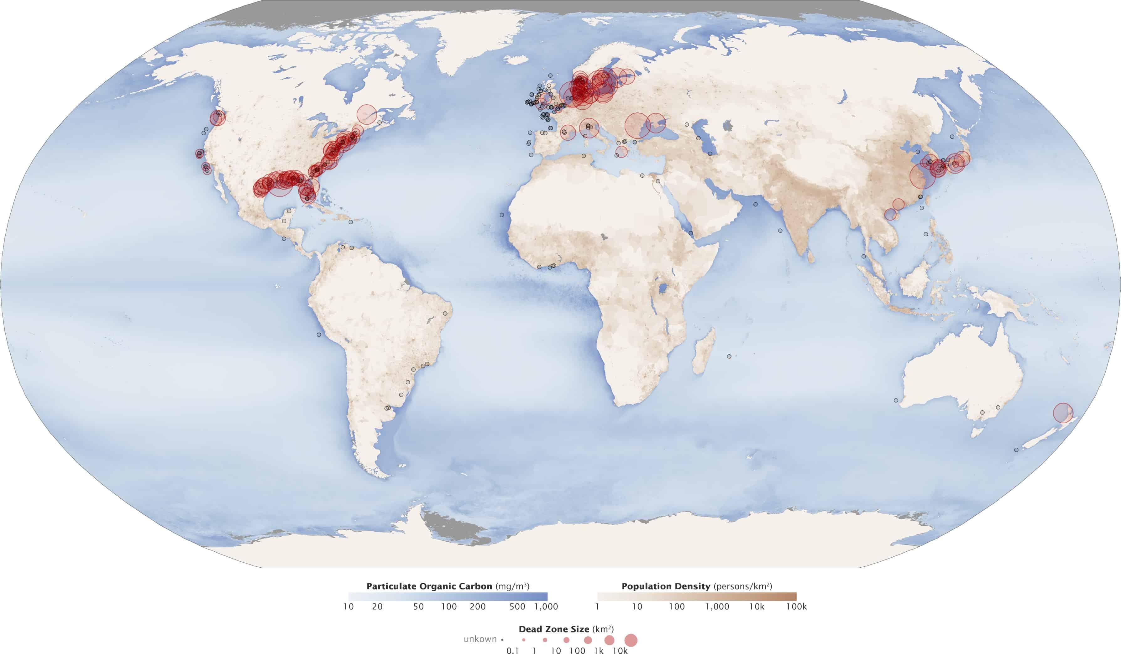 image of ocean dead zones