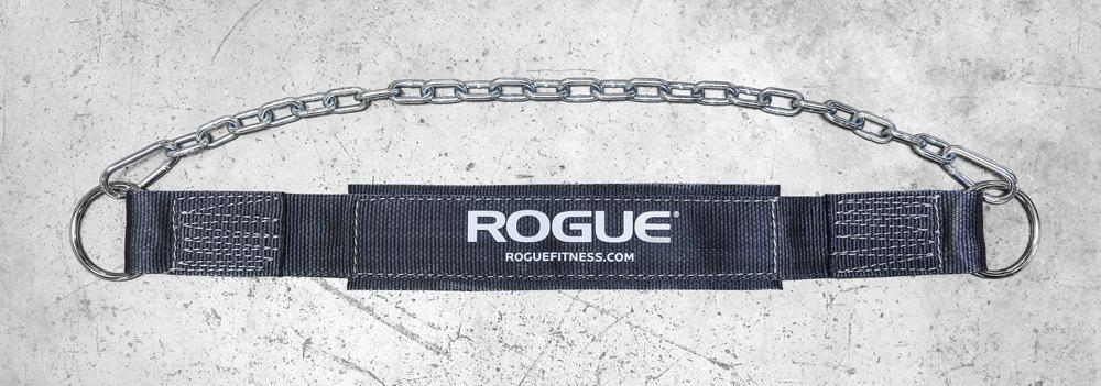 rogue fitness dip belt in black