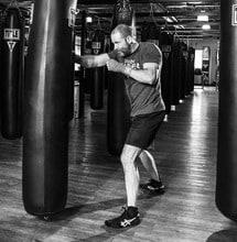 athlete wearing hand wraps on training