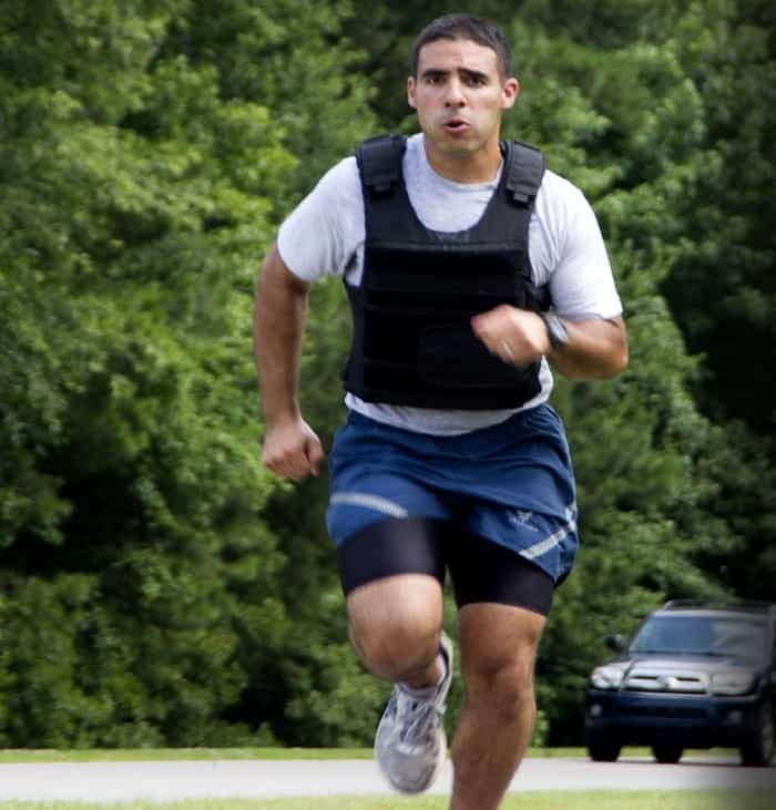 man wearing vest on training