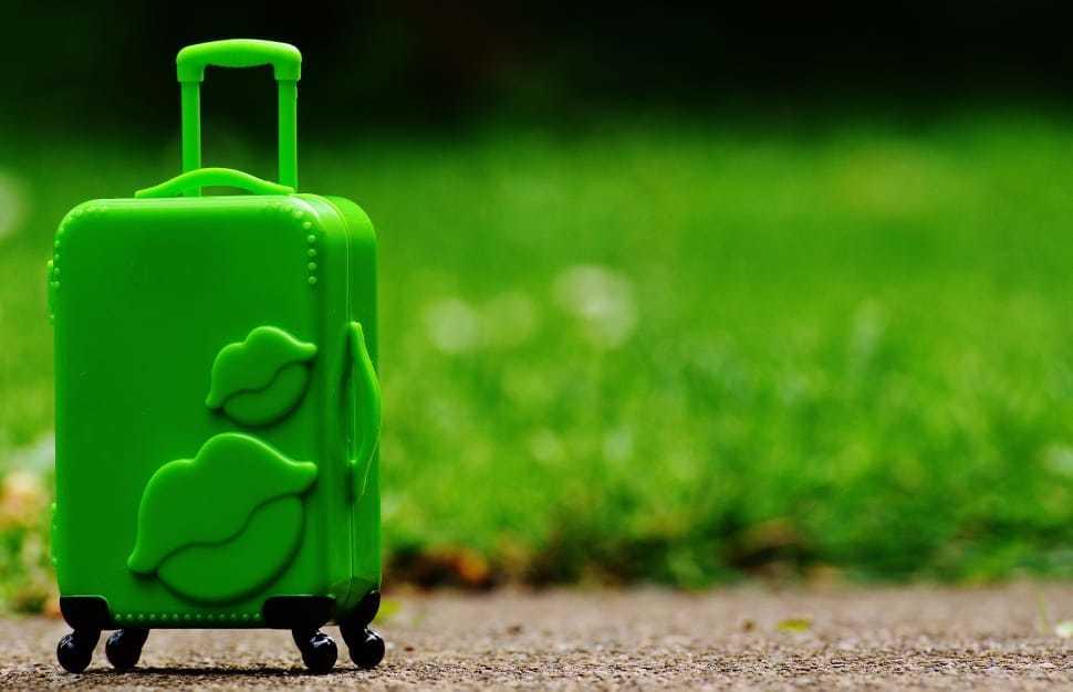 plastic luggage