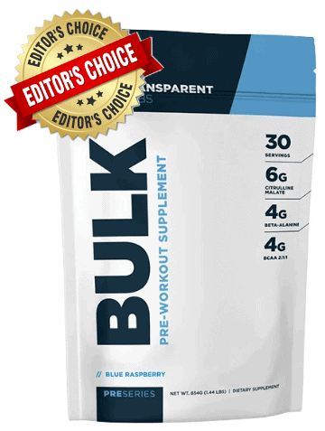 1. Transparent Labs Bulk Pre-Workout