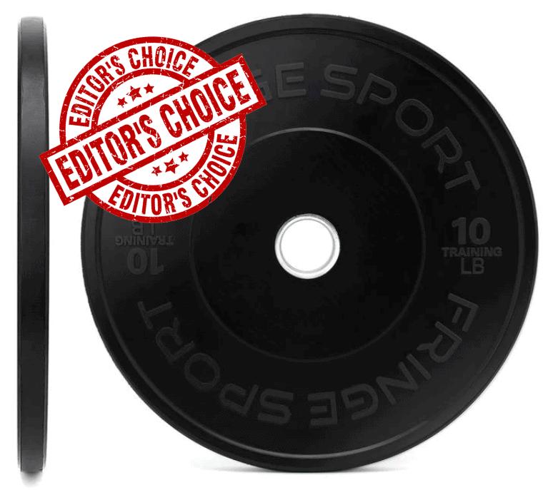 Fringe Sport Black Bumper Plates Pairs