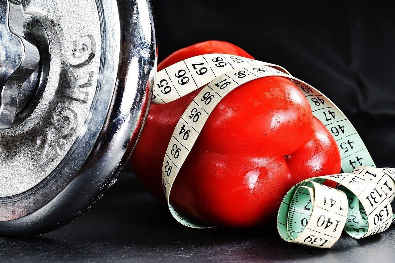 barbell and bell pepper